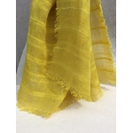 foulard lin raye jaune reseda peregreen detail