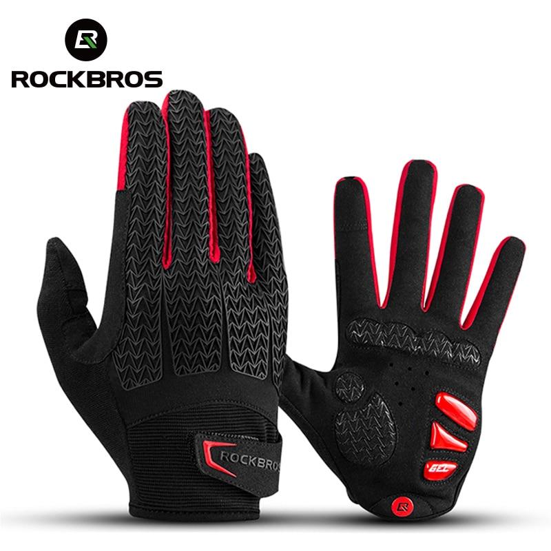 ROCKBROS – Gants à membranes coupe-vent pour faire du vélo, accessoires chauds de cyclisme, MTB, automne/hiver