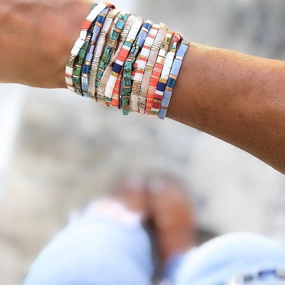 Go2boho Bracelets pour femmes en perles de verres Pulseras, MIYUKI Tila.