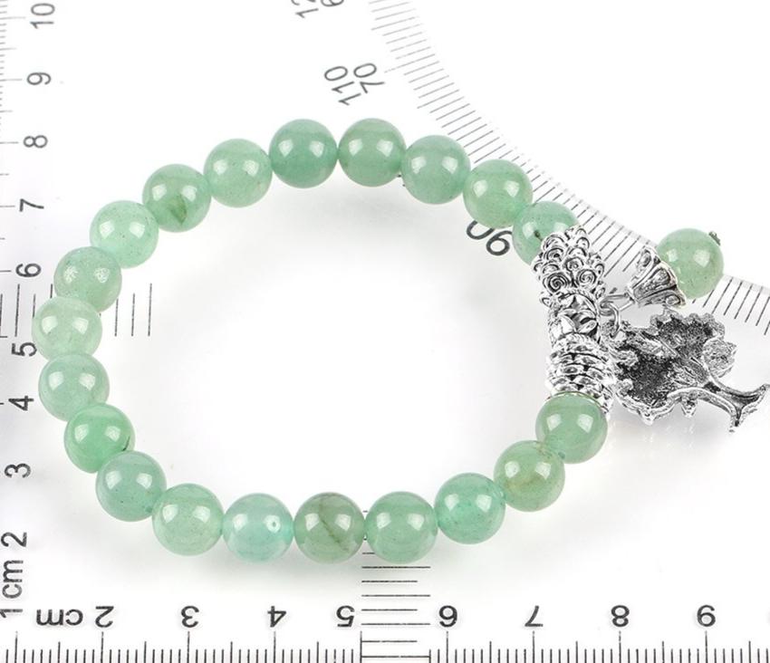 Bracelet vert pour femmes, en pierre naturelle de Reiki.