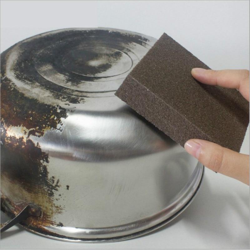 Eponge magique gomme pour enlever le noir, l\'oxydation de vos casseroles et poêles de cuisine