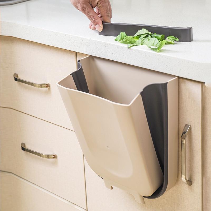 Poubelle de cuisine suspendue pour portes tiroirs, ou murale pour salle de bains, toilette, stockage des déchets.