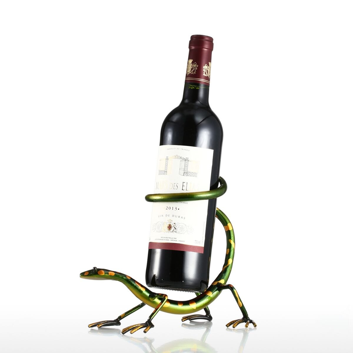 Support bouteille de vin Gecko moderne.