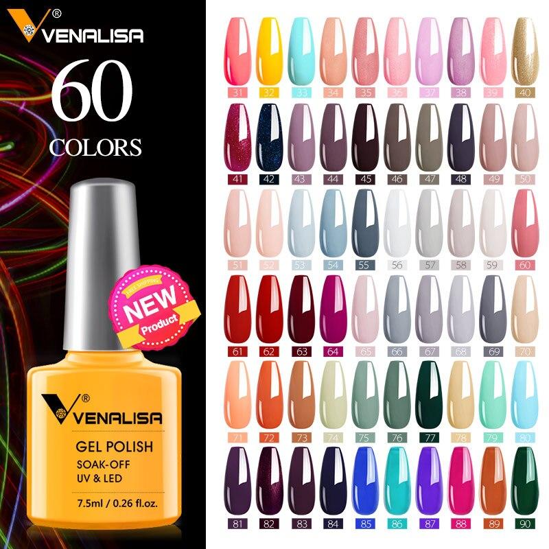 Vernis à ongles gel VENALISA haute qualité, 7.5ml