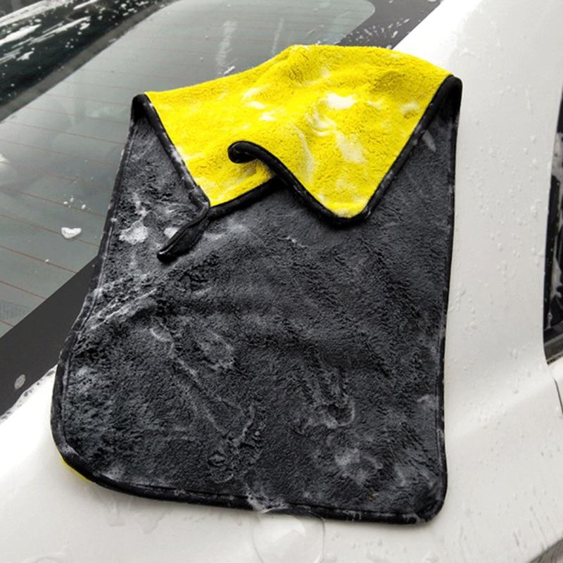 Lot de serviettes microfibres extra-douces pour nettoyage de voiture.