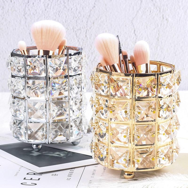 Pots pour rangement de pinceaux à maquillage, coton..