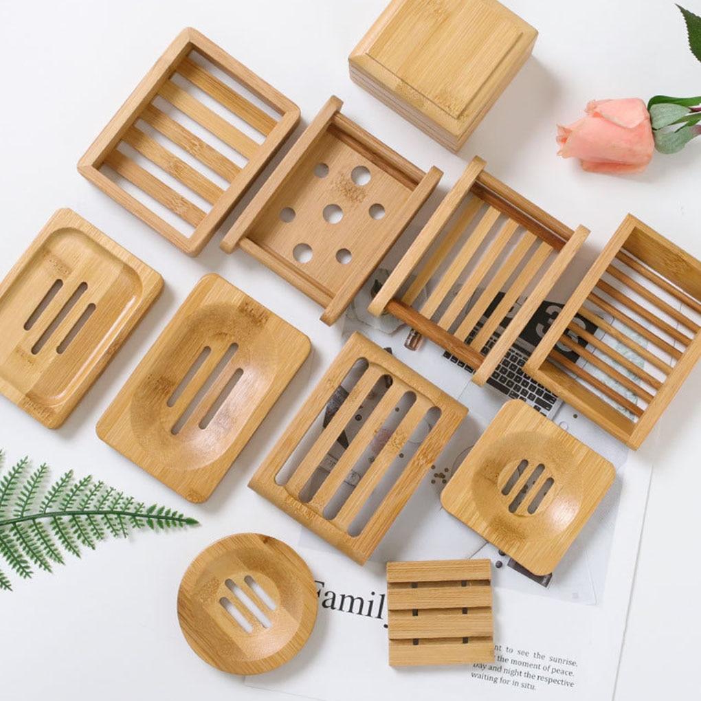 Porte-savon en bambou naturel.