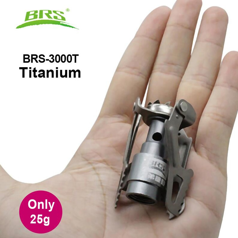 Mini brûleur à gaz Portable, titane. BRS.