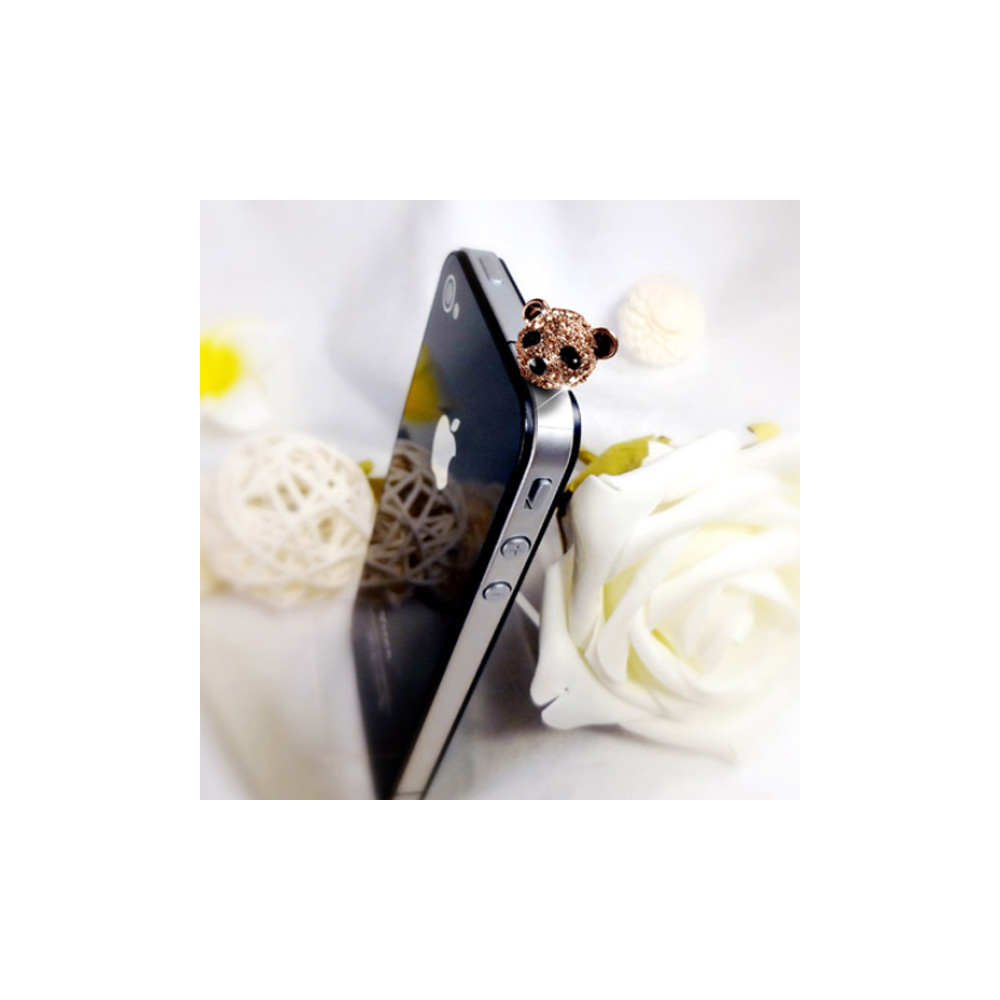 Accessoire Bijoux Smartphone Panda Or Rose et Cristal