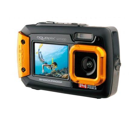 Caméra numérique SELFIES SOUS-MARIN Easypix AQUAPIX W1400. Orange.