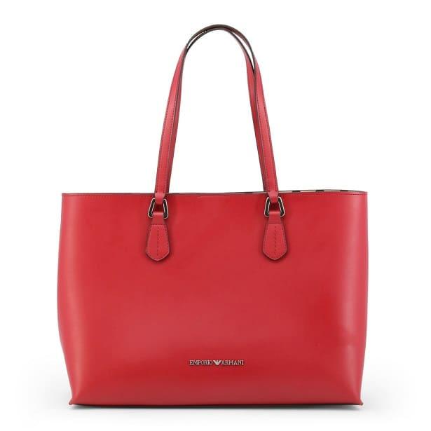 Sac cabas Emporio Armani Femme rouge.