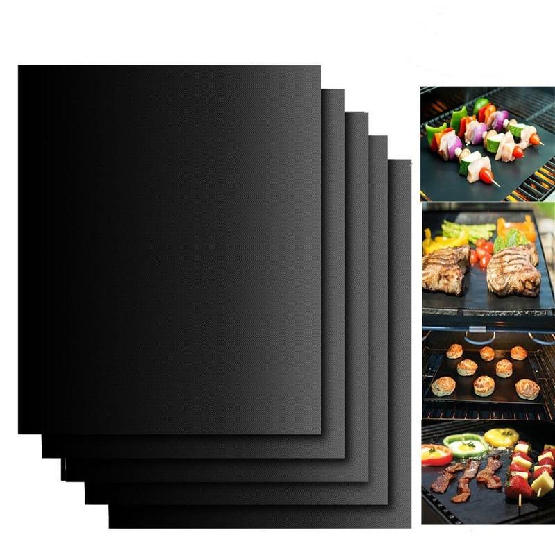 Tapis-de-Barbecue-Barbecue-cuisson-en-plein-air-tampon-antiadh-sif-plaque-de-cuisson-r-utilisable