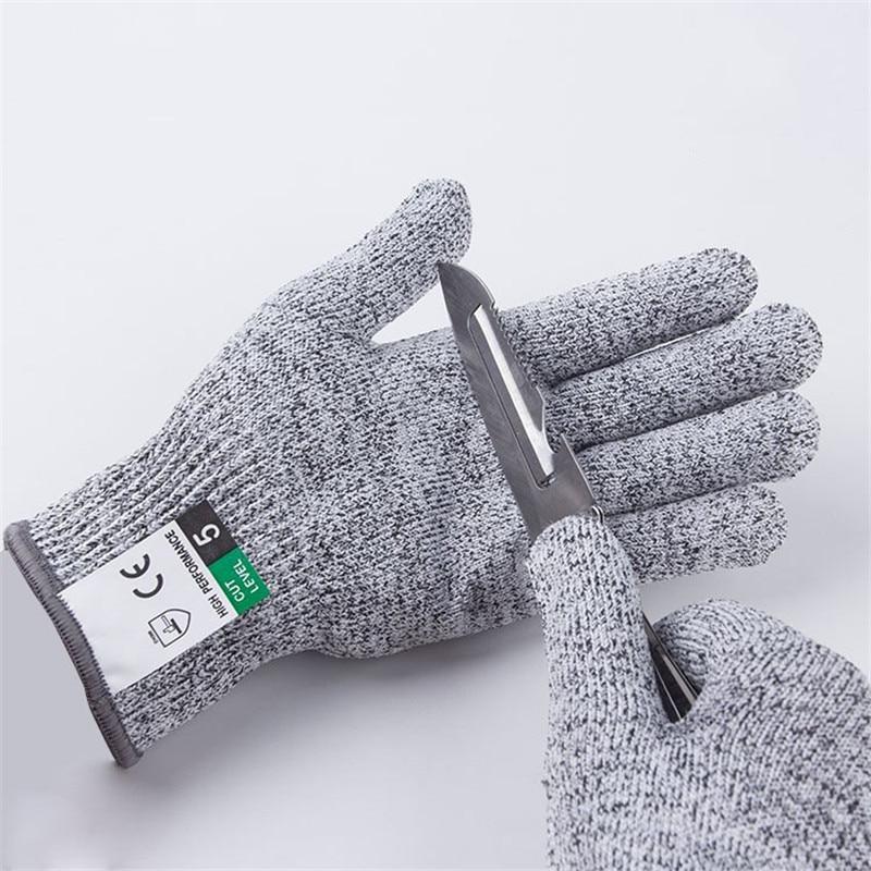 Gants de coupe de niveau 5, résistant aux coupures de cuisine, de boucherie, gants de sécurité pour les huîtres, le poisson, jardinage