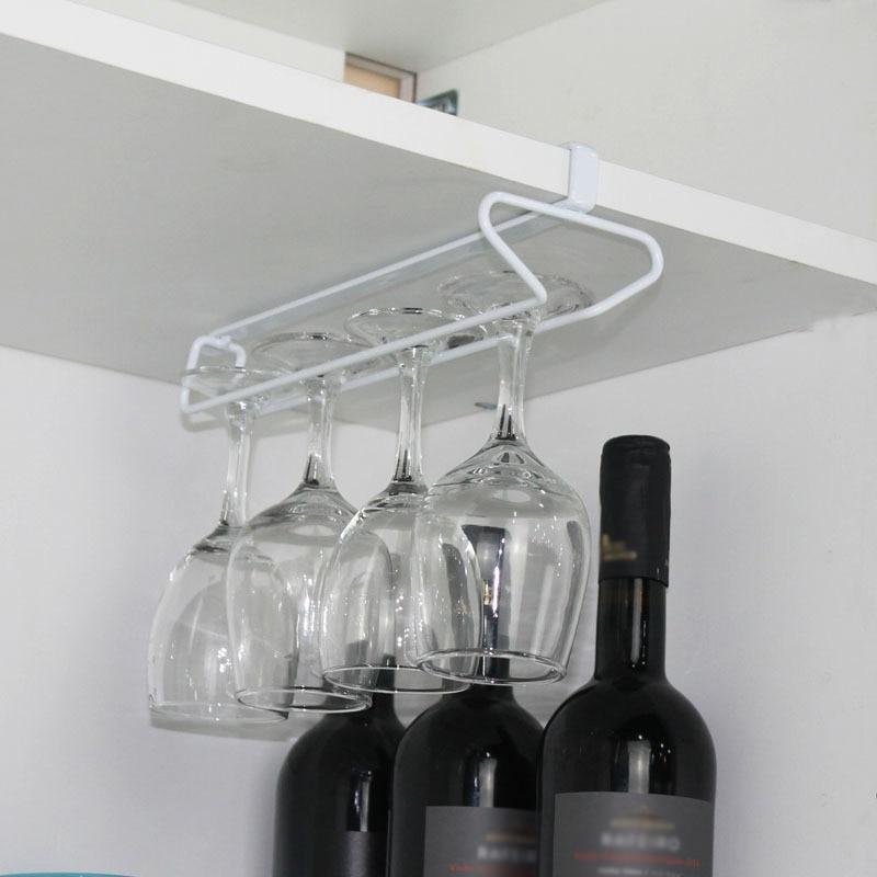Support de verres à vin pour étagères. Pratique.