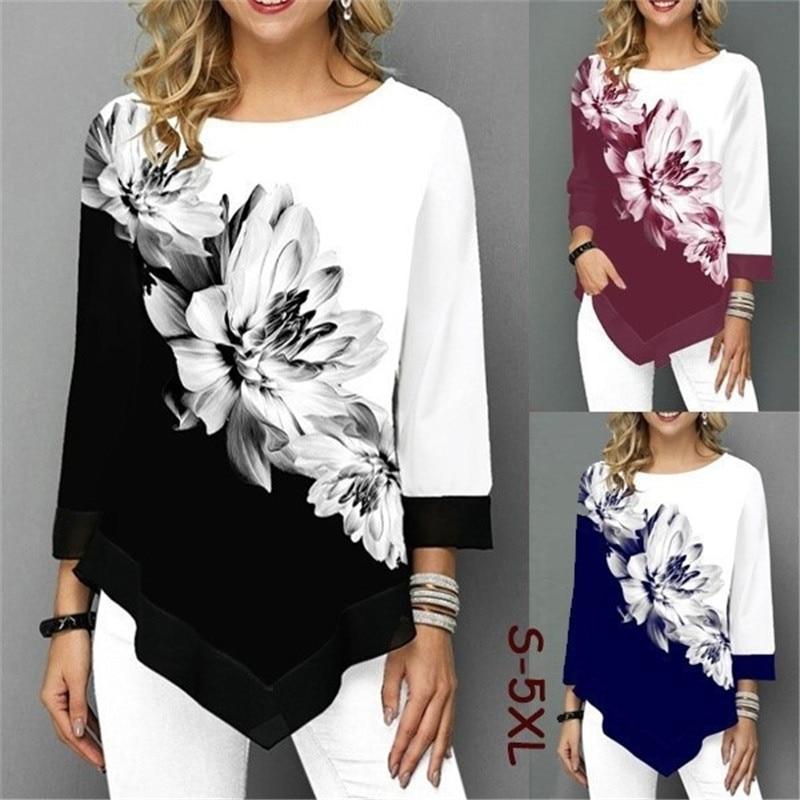 Tee-shirt femme, ample, floral. Magnifique.