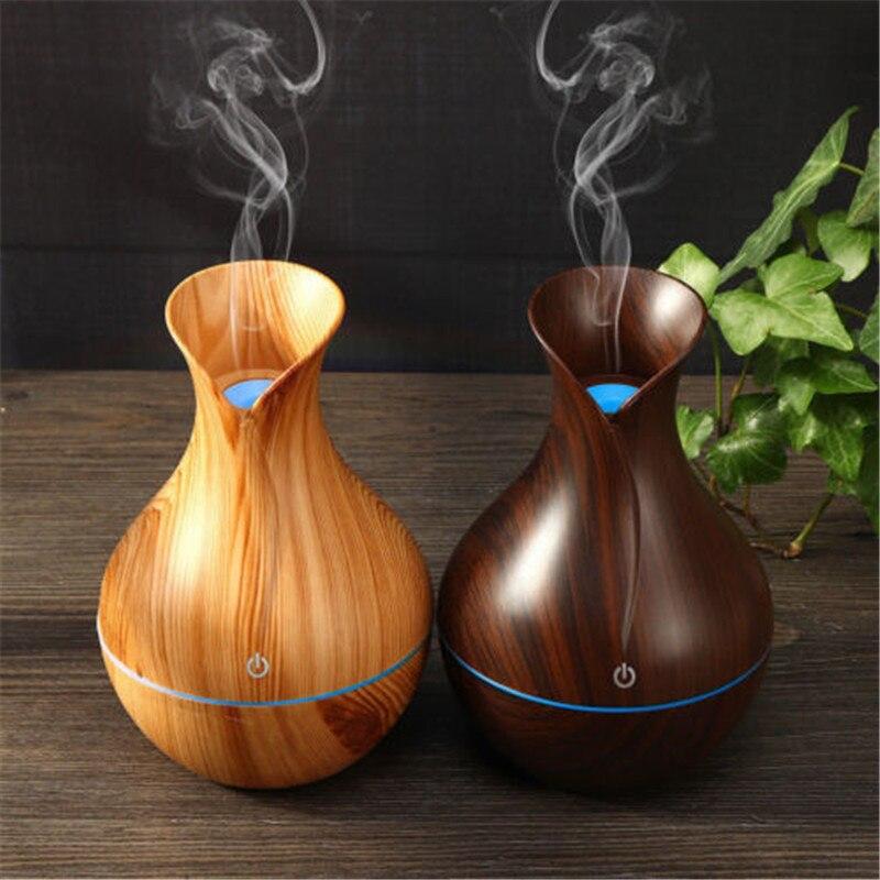 Diffuseur Led d\'huiles essentielles USB aromathérapie purificateur en bois