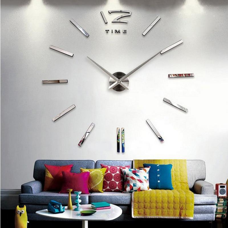 Horloge murale montre 3d en acrylique miroir autocollants. Mouvement Quartz avec chiffres Europe.