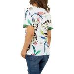 T-shirt-Femme-motif-fleuri-white-original
