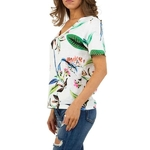 T-shirt-Femme-motif-fleuri-white-prix