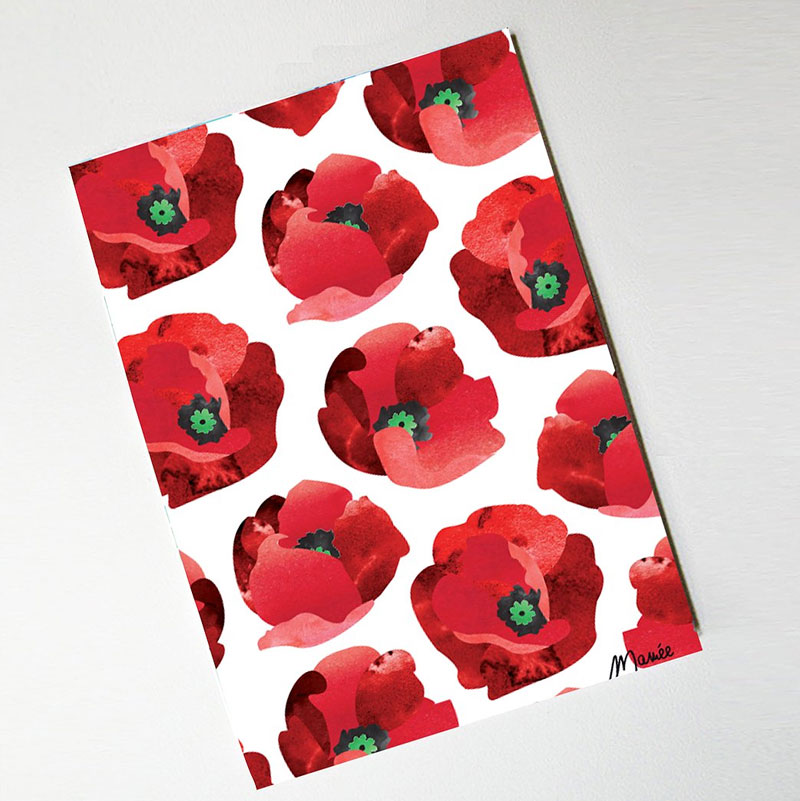 Carnet coquelicots