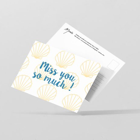 Carte postale « Miss you so much ! »