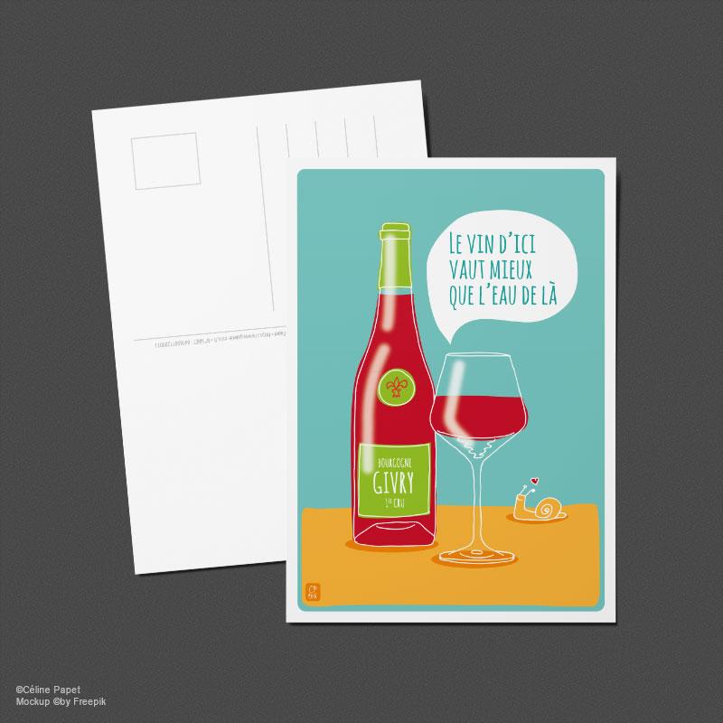 Carte postale Vin Givry