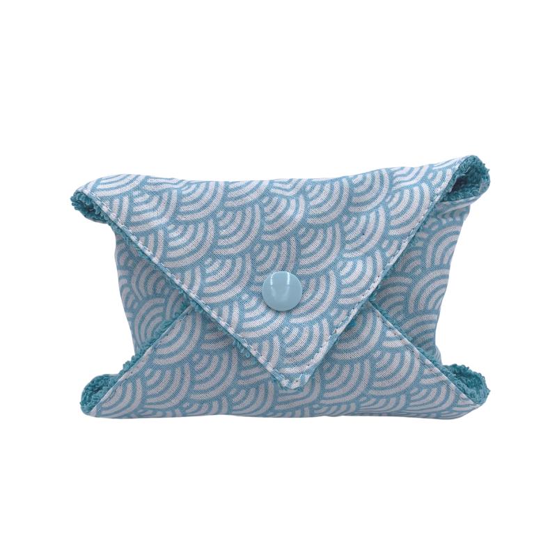 Étui à savon - Pochette à savon de voyage - Coton Oeko-tex - Motif  japonais vague bleu