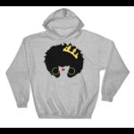 sweatshirt-capuche-queen-afro-gris