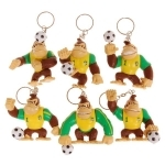 Porte Clé Donkey Kong Football Brésil (Lot de 6)