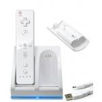 Chargeur Double BlueLight pour WiiMote + 2 Batteries 2800mAh