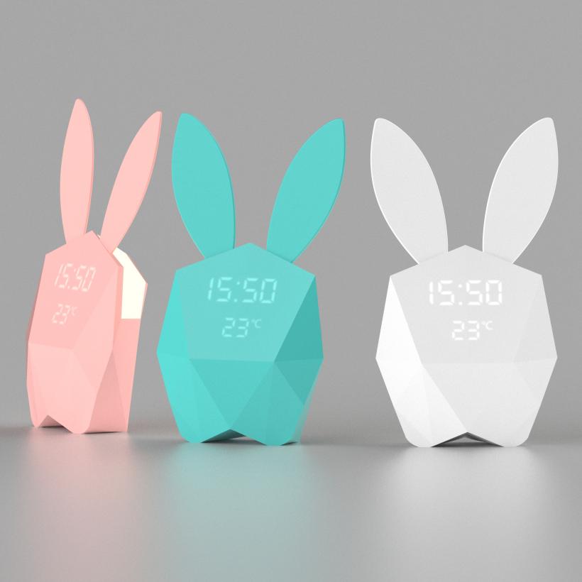 MOB Cutie Clock Réveil Connecté Veilleuse Turquoise