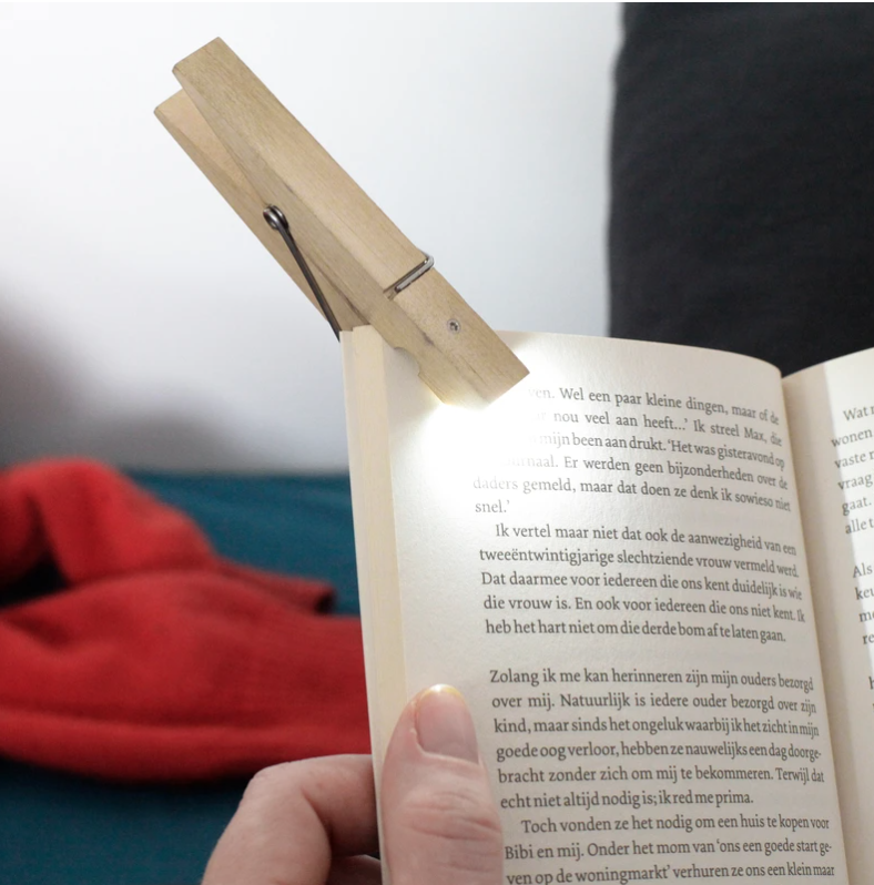 BOOKLIGHT CLOTHESPIN lampe de lecture