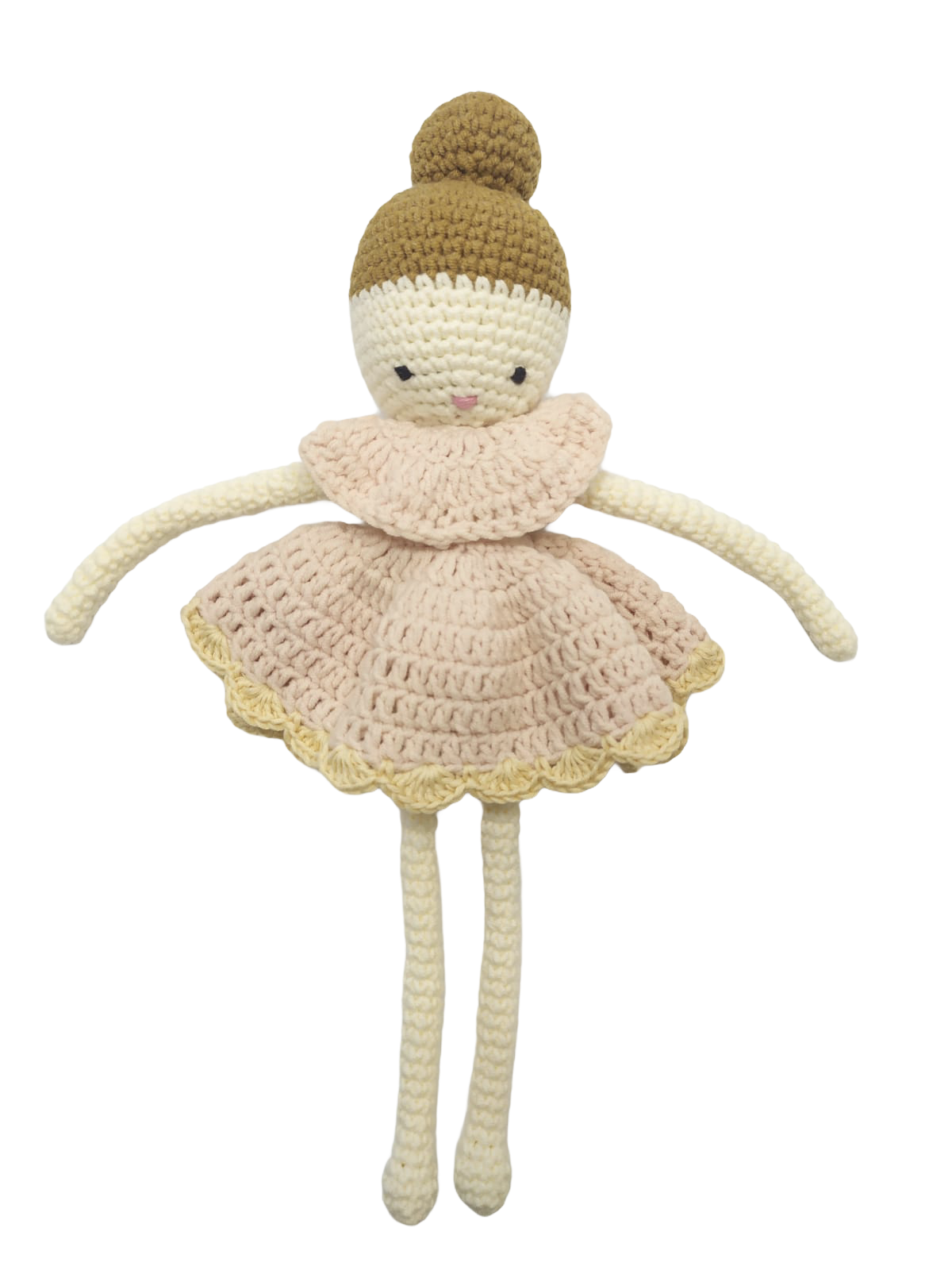 Poupée danceuse rose en laine