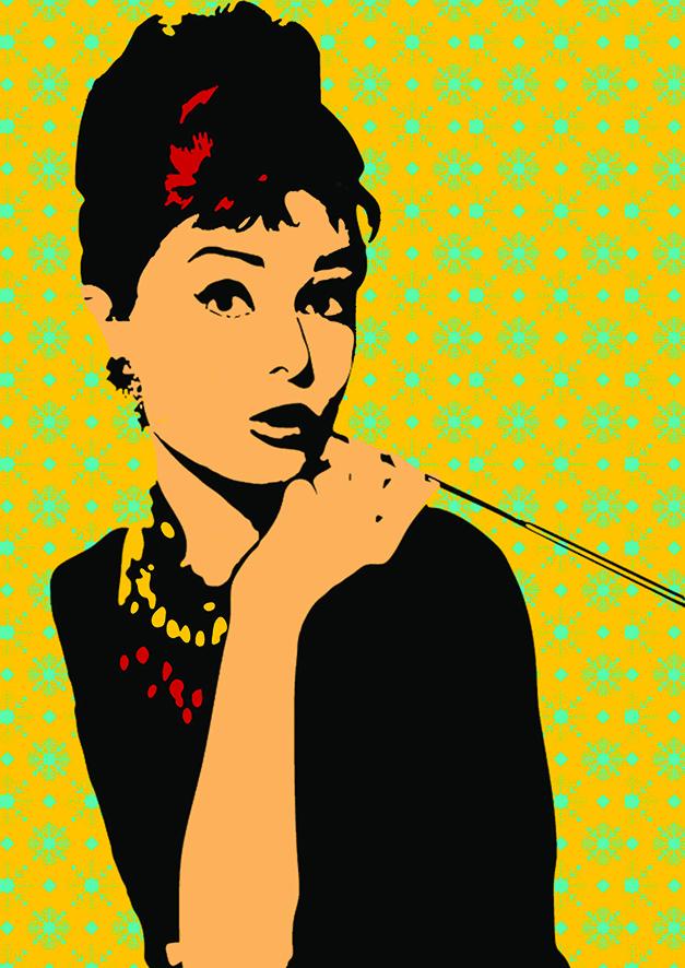 Affiche Audrey Hepburn Keskes