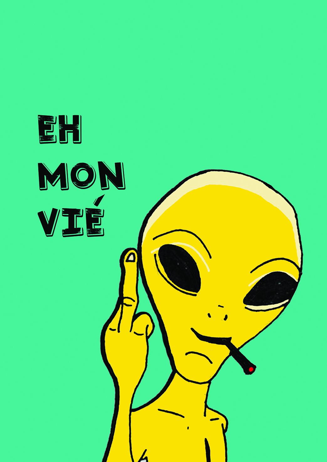 Affiche extraterrestre rebelle Marseille Keskes