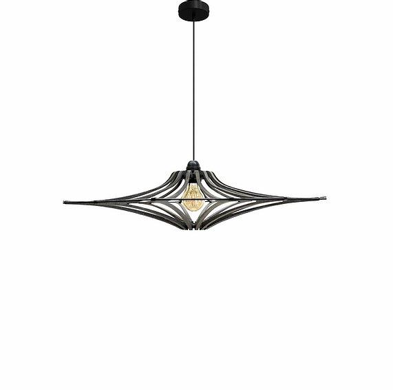 RIF Suspension Design bois noir D65cm SINGING BLACK - élastique Noir - kit noir