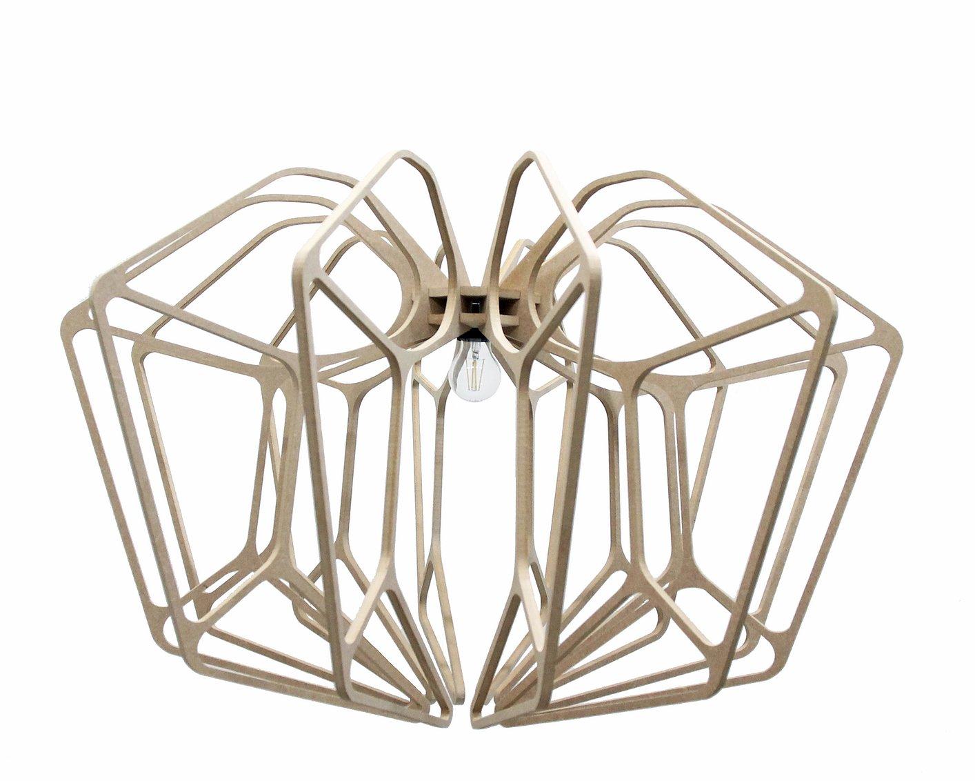 RIF Suspension Bois design D90cm DIAMOND- Kit coton et métal noir