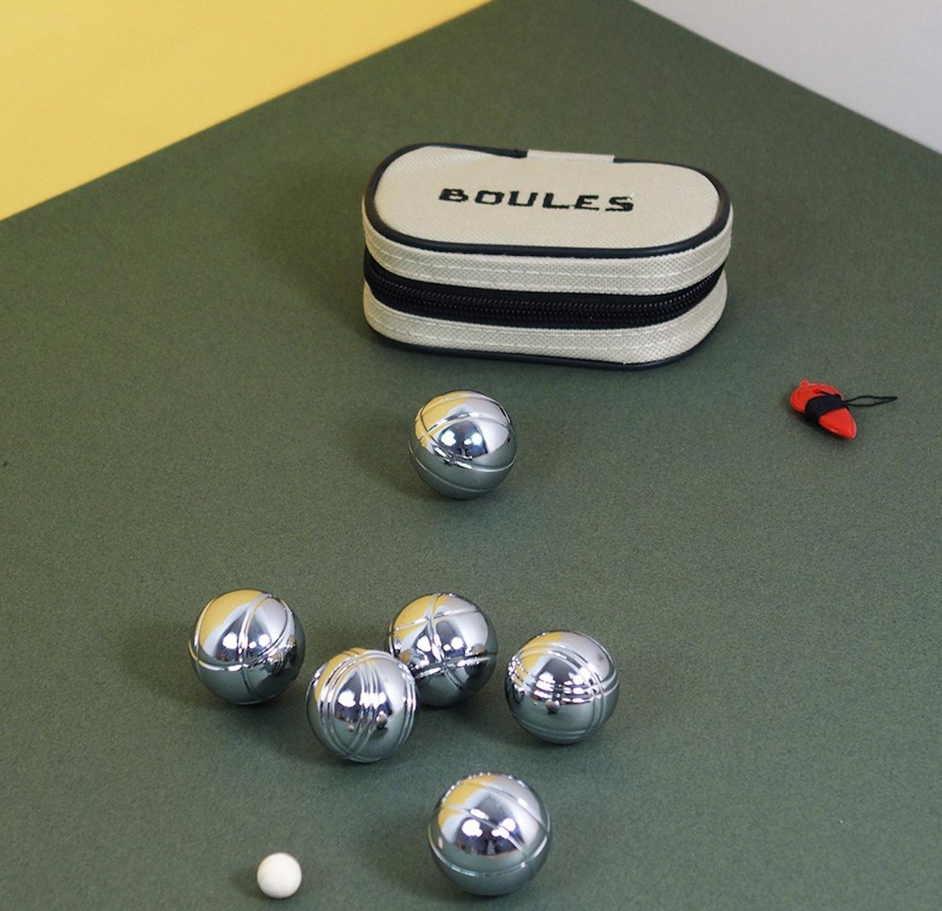 KIKKERLAND Kit de 6 Boules de pétanques en Acier
