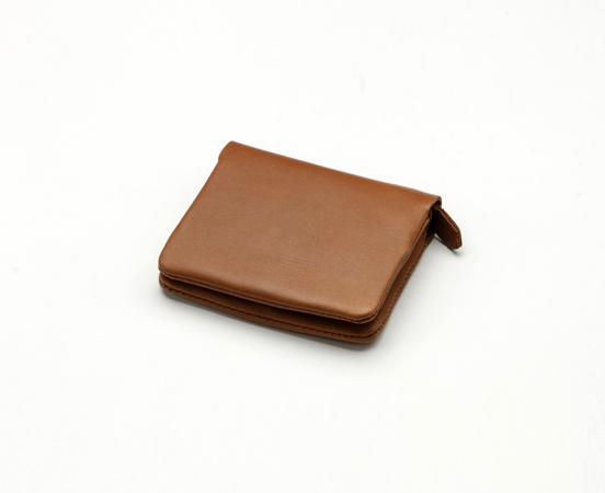 portefeuille-porte-monnaie cuir-Lakange marron1