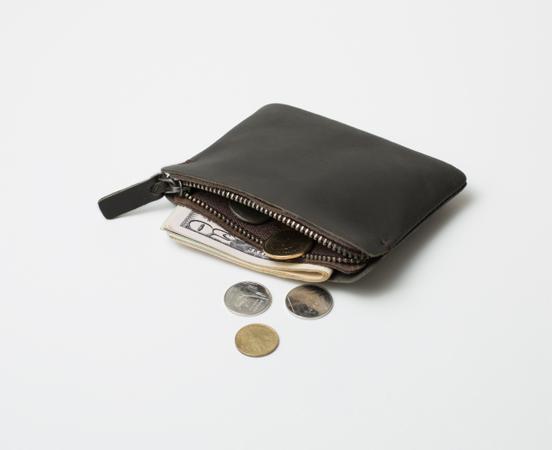 Porte monnaie zippé cuir avec fermeture éclair