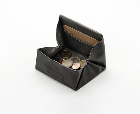 Porte monnaie cuir carré
