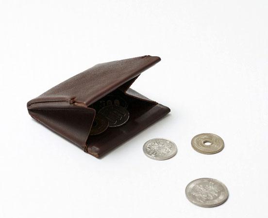 Porte monnaie pliable en cuir