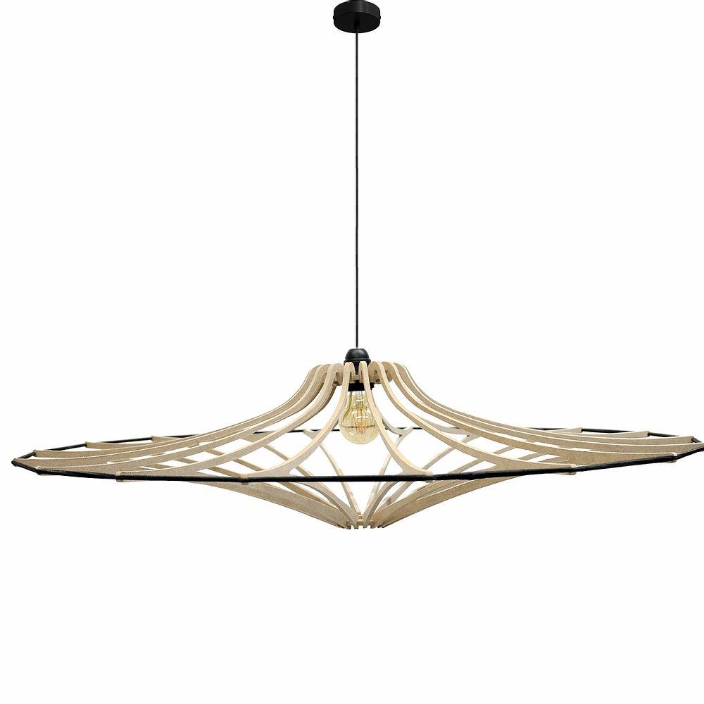 Lampe suspension Design Singing brut D90cm