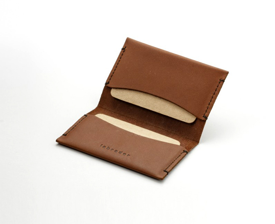 porte-cartes double cuir