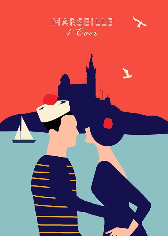 afffiche les amoureux du vieux port