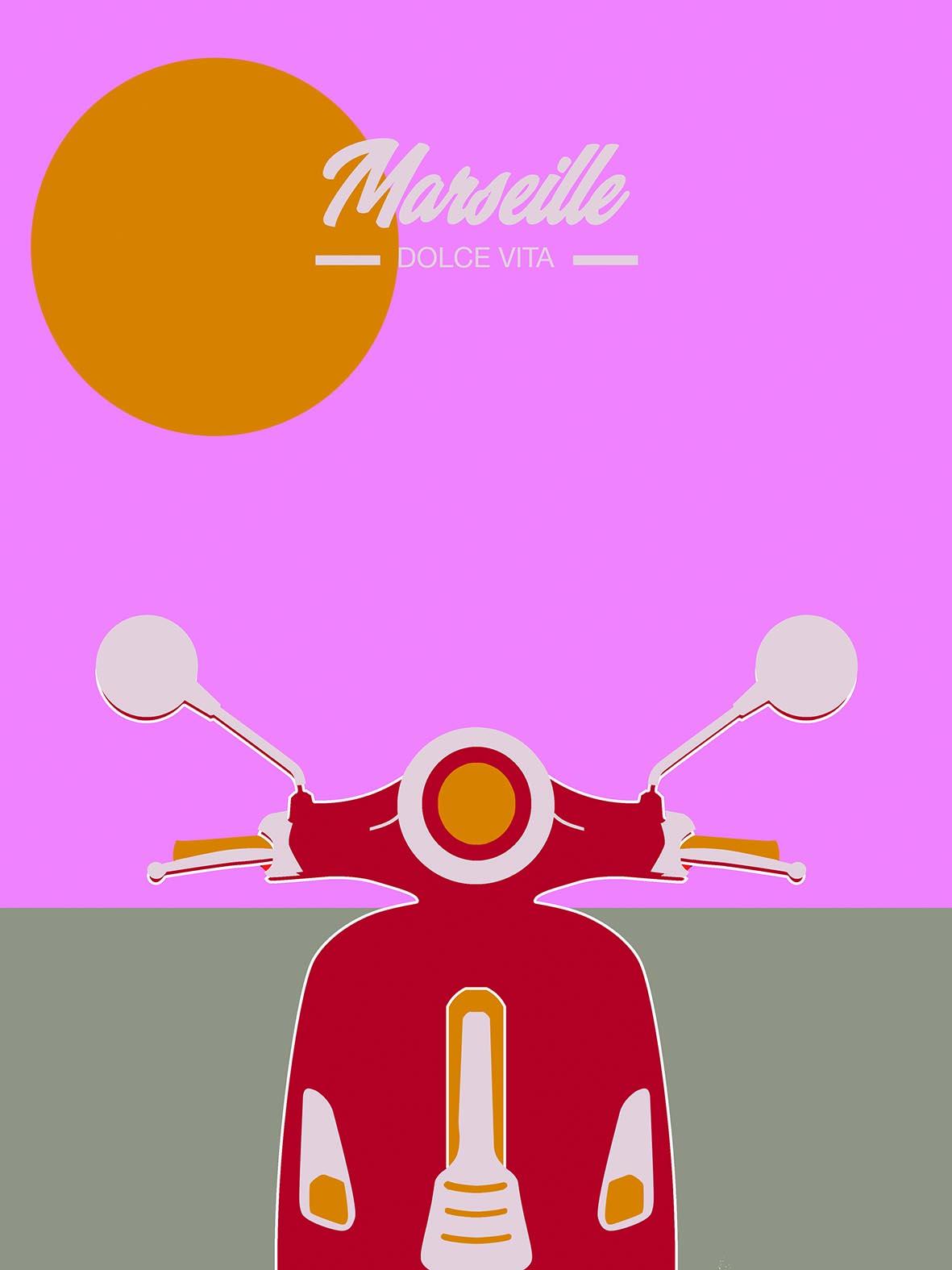 Affiche MARSEILLE DOLCE VITA