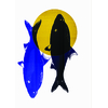 poisson bleu avec mars