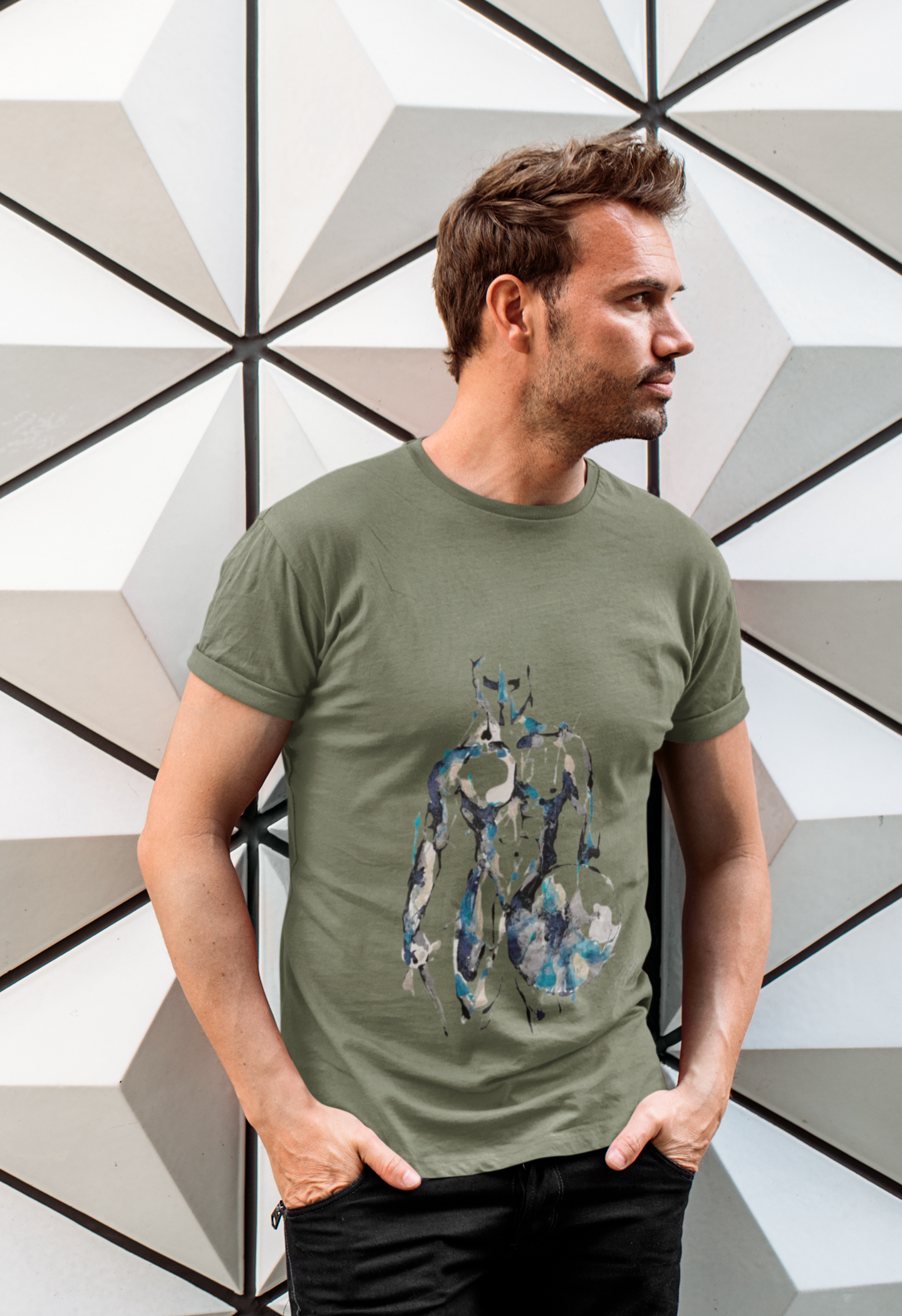 T-shirt homme Gladiator - collab exclusive avec Amandyne Steropês