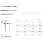 guide taille t-shirt femme