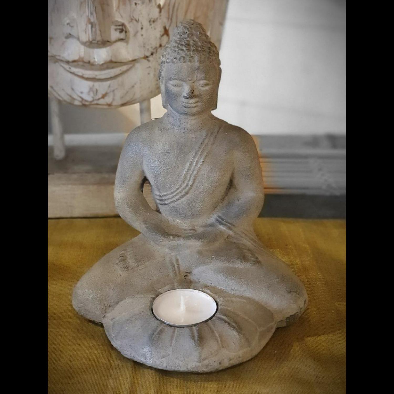 Bouddha Candle en Pierre